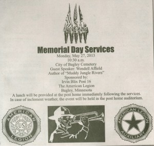 2013-05-27 Memorial Day Services, Bagley American Legion