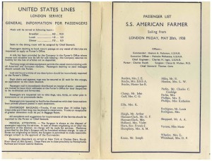 1938-05-20 Passenger List. Pages 2,3