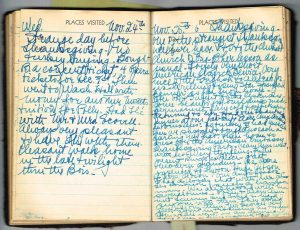 1937-11-25 Elsie Thanksgiving Diary entry. Brussels