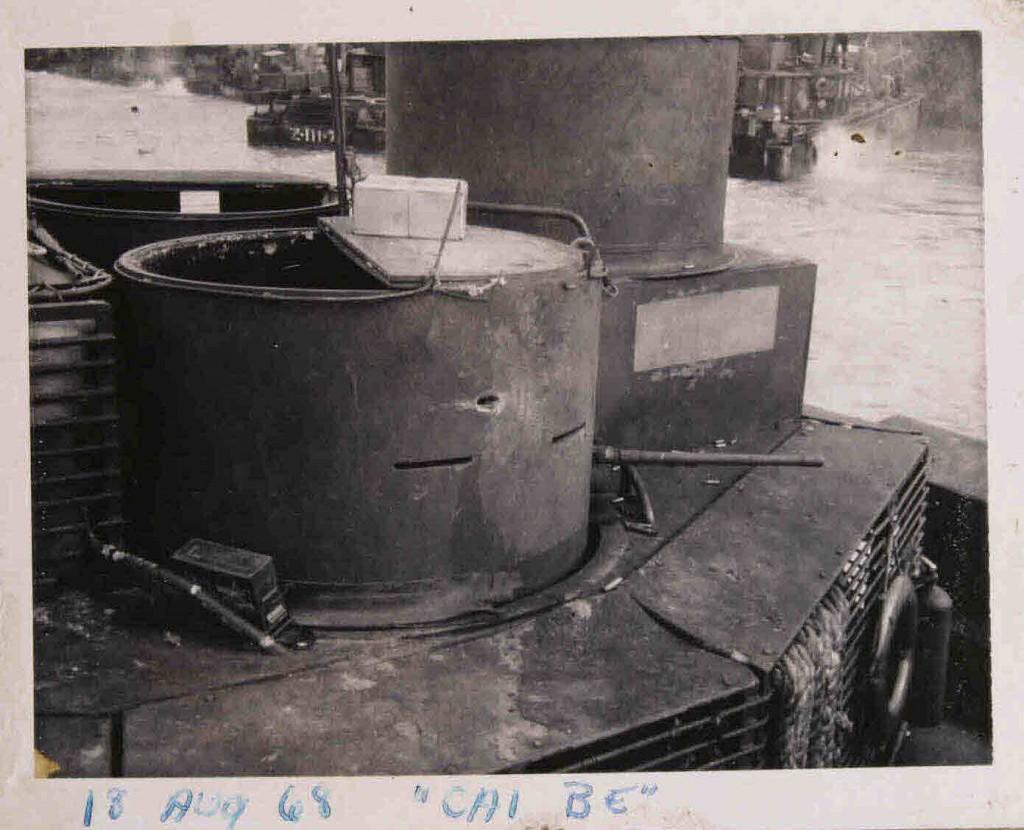 1968-08-18 Battle Damage. Gun Turret. Sgt Thomas. RPG hole